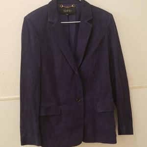 Leather gucci blazer